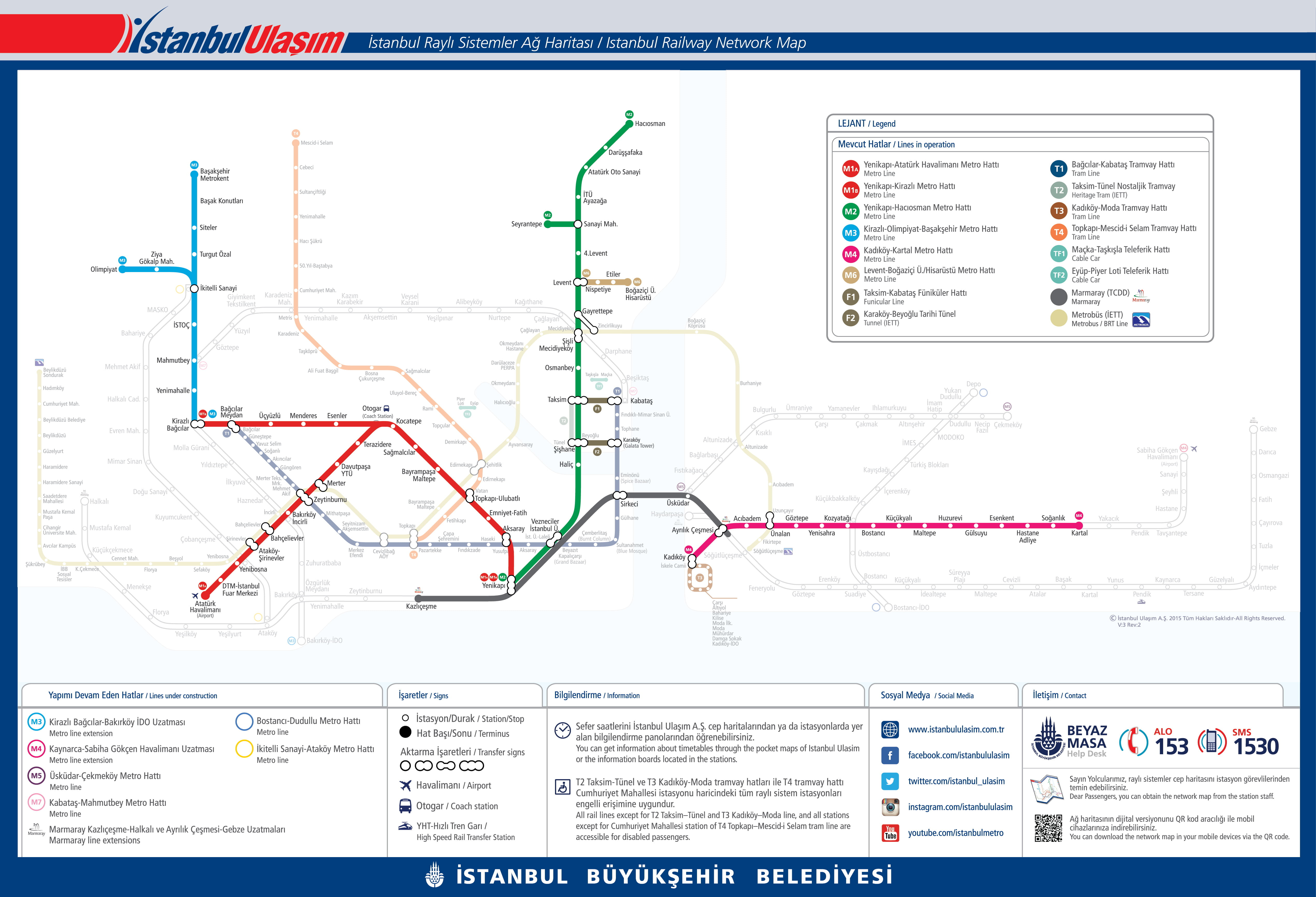 istanbul metro map english pdf